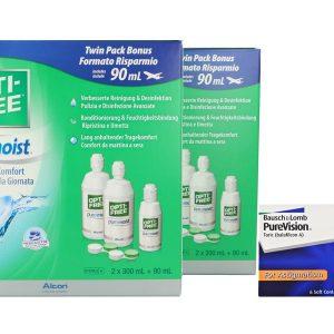 PureVision Toric Kontaktlinsen von Bausch & Lomb & Opti Free